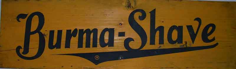 Original Burma-Shave signs for sale!